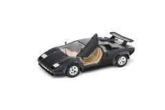 黑赛跑的玩具汽车Lamborghini Countach体育车汽车 库存照片