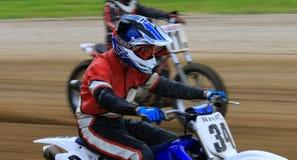 赛跑竞争的摩托车 库存照片