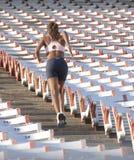 赛跑者体育场台阶 免版税库存图片