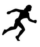 赛跑者剪影 库存例证
