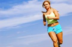 赛跑者妇女 免版税图库摄影