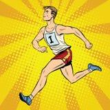 赛跑者男性赛跑者夏天比赛竞技 库存照片