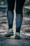 赛跑者的特写镜头脚 免版税库存照片