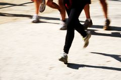 赛跑者行程 图库摄影