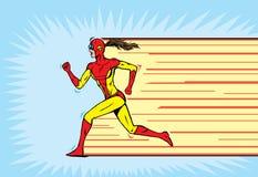 赛跑者超级英雄 免版税库存图片