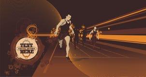 赛跑者跟踪向量 免版税库存照片