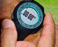 赛跑者,开始您的定时器 免版税库存图片