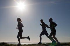 赛跑者,马拉松 免版税库存图片