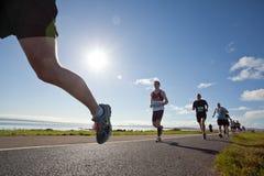 赛跑者,马拉松 免版税库存照片