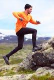 赛跑者-足迹奔跑的体育连续人 免版税库存图片