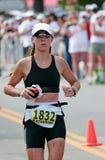赛跑者triathlete 免版税库存照片