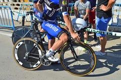赛跑自行车的周期试验种族 库存图片