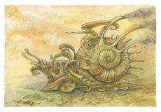 赛跑蜗牛 库存照片