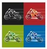赛跑象或标志的速度 免版税库存照片