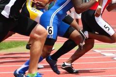赛跑起始时间 库存图片