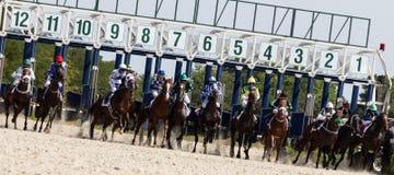 赛跑起始时间 免版税库存照片