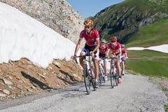 赛跑路的自行车 库存图片