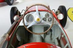 赛跑车的内部的法拉利Tipo 500 F2惯例 免版税库存照片