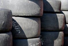 赛跑轮胎 库存图片