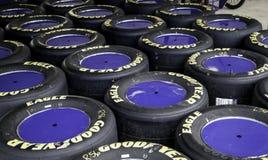 赛跑轮胎 库存照片