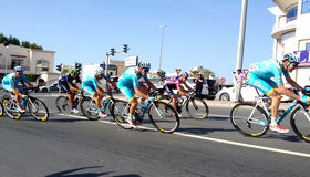 赛跑迪拜的自行车 免版税图库摄影