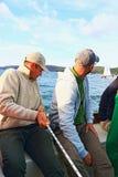 赛跑风船乘员组 库存照片