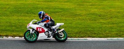 赛跑马洛里公园的摩托车 免版税库存照片