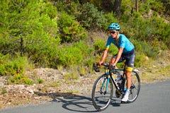 赛跑骑自行车者的阿斯塔纳队 免版税库存图片