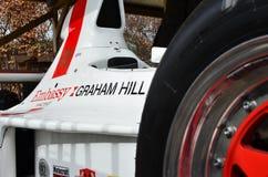 赛跑阴影F1格兰披治汽车的使馆 免版税图库摄影