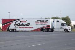 赛跑经验卡车的马里奥・安德烈蒂 库存图片
