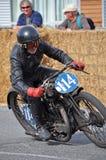 赛跑1929个AJS的经典摩托车街道在Methven新西兰 库存照片