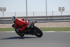 赛跑superbike跟踪 库存图片