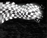 赛跑wawing 1的背景方格的旗子 免版税库存图片