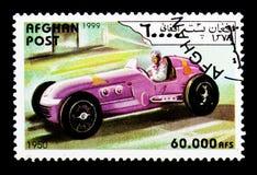 赛车从1950年,葡萄酒赛车serie,大约1999年 库存照片