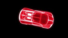 赛车全息图Wireframe 好的3D翻译 免版税库存照片
