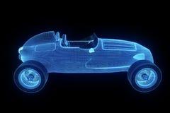 赛车全息图Wireframe 好的3D翻译 免版税库存图片