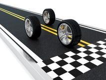 赛车轮子 免版税库存照片