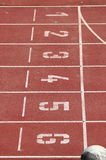 赛马跑道在体育场内 免版税库存图片