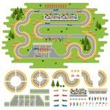 赛马跑道曲线路 库存照片