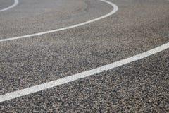赛马跑道-柏油碎石地面细节 免版税图库摄影
