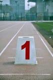 赛马跑道 库存照片