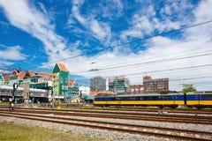 赞丹中央火车站,荷兰 免版税库存照片