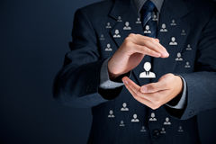 赞助人和领导概念 库存图片