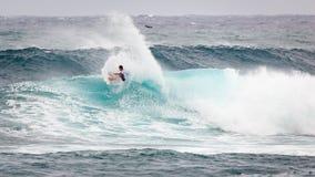 赞成冲浪者日落海滩夏威夷 库存照片