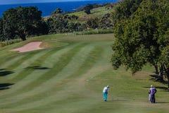 赞成女子高尔夫球运动员作用 免版税图库摄影