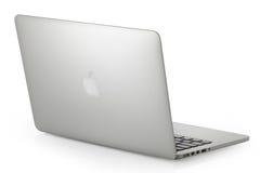 赞成银色MacBook 免版税库存图片
