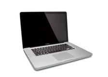 赞成MacBook的照片 免版税库存图片