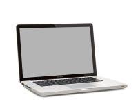 赞成MacBook的照片 库存图片