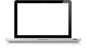 赞成macbook 免版税库存图片