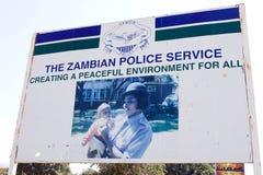 赞比亚的警署 库存照片